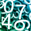 Set of digital numbers. Vector blue background — Vector de stock #9884044