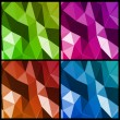 Set abstract triangle background. Vector — Stock Vector