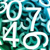 デジタル数字のセットです。青のベクトルの背景 — ストックベクタ