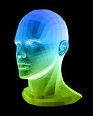 人体头部。抽象矢量图 — 图库矢量图片