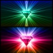 Two Colorful diamonds on bright backgrounds. Vector — Stock Vector #9912331