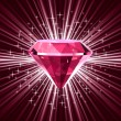 Royalty-Free Stock Vector Image: Red diamond on bright background. Vector