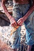 Farmer hands — ストック写真