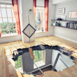 Broken Floor - Stock Photo