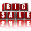 Big sale with reflection — Stock Photo