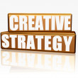 Creative strategy - golden blocks — Stock Photo