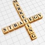 Golden marketing strategy like crossword — Stock Photo