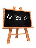 Abc on blackboard - hand-written — Stock Photo