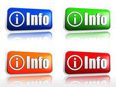 Botones de información — Foto de Stock