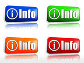 Info buttons — Stock Photo