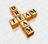 Golden dream team — Stock Photo