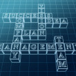 Crossword 1 in blue glass — Stock Photo #10560687