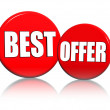 Best offer in red circles — Stock Photo