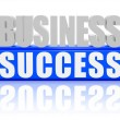 Business success - letters and block — Stock Photo