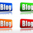Stock Photo: Blog banners
