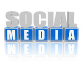 Social media - letters and blocks — Stock Photo