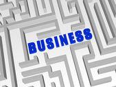 Blau business im labyrinth — Stockfoto