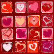 Drawn hearts background — Stock Photo