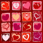 Gezeichnete Herzen Hintergrund — Stockfoto