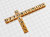 Golden opportunity like crossword — Stock Photo