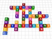 Crossword 18 - web advertisement — Stock Photo