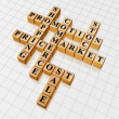 Golden crossword 3 - promotion — Stock Photo