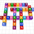 Crossword 21 - leadership - Stock Photo