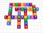 Crossword 21 - leadership — Stock Photo
