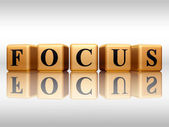 Focus with reflection — Stock Photo