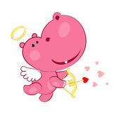 Sweet cupid hippopotamus — Stock Photo