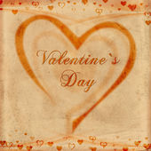 Valentine's day on old paper — Stock Photo