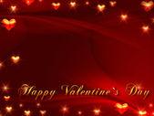 Happy valentine's day in red — Stock Photo