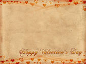 Happy valentine's day on old paper — Foto Stock