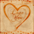 Stock Photo: Love you on old paper