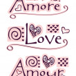 Amore, love, amour — Stock Photo