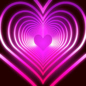 Shining pink hearts — Stock Photo