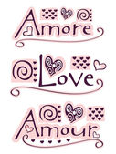 Amore, liefde, amour — Stockfoto