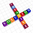 Color creative solution like crossword — Stock Photo