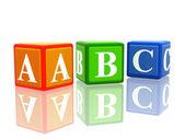 Cubetti di colore abc — Foto Stock