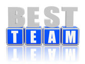 Best team - letters and cubes — Stock Photo