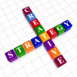 Color creative strategy like crossword — Stock Photo #9336193