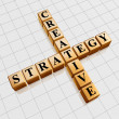 Golden creative strategy like crossword — Stock Photo #9336217