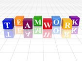 Colour teamwork — Stock Photo