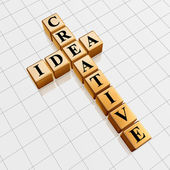 Golden creative idea like crossword — Stock Photo