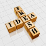 Golden fresh idea like crossword — Stock Photo