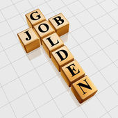 Golden job crossword — Stock Photo