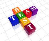 Colour best team — Stock Photo