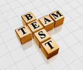 Golden best team — Stock Photo