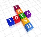 Fresh idea like crossword — Stock Photo
