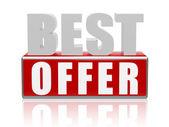 Nejlepší nabídka - dopisy a kostky — Stock fotografie